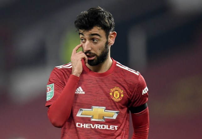 Bruno Fernandes and Manchester United were beaten in the Carabao Cup semi-final