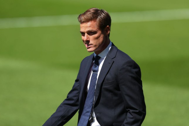 Scott Parker looks on during Fulham's Championship clash with Sheffield Wednesday