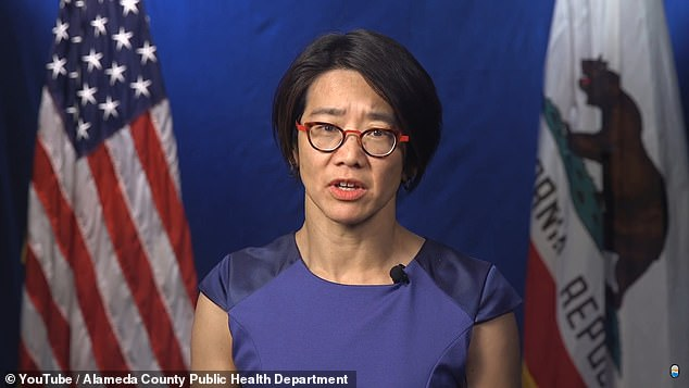 California's top epidemiologist Dr Erica S Pan (pictured) said clinics in the state can resume using Moderna vaccine doses from a batch of 330,000 after a scare that the lot was causing allergic reactions.