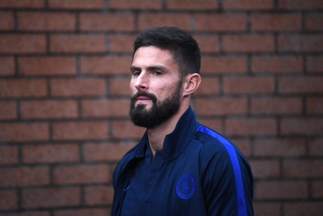 Olivier Giroud will hope to fire Chelsea past Manchester City this weekend
