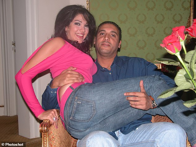 Hannibal Gaddafi and his wife Aline Skaf, who is suspected of running her 4x4 into police and pedestrians in the Syrian capital Damascus