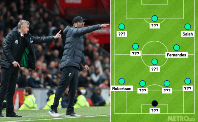 Manchester United and Liverpool combined XI with players from Ole Gunnar Solskjaer and Jurgen Klopp's sides.