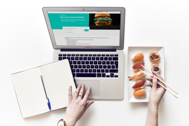 a person reviewing deliveroo food
