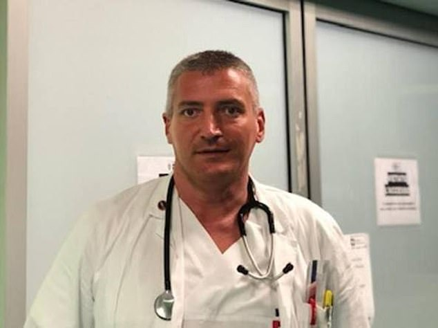 Carlo Mosca, 47, was working as the head of A&E at the hospital in Montichiari, Lombardy, when the two patients were allegedly killed between March 20 and 23