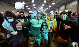 Party-goers in the disused hangar in Lieuron were understood to have come from different French departments.