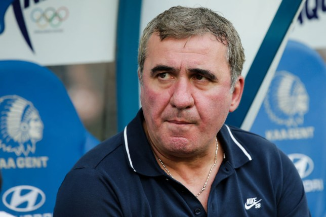Celtic-linked Gheorghe Hagi looks on during Gent's Europa League clash with FC Viitorul Constanta