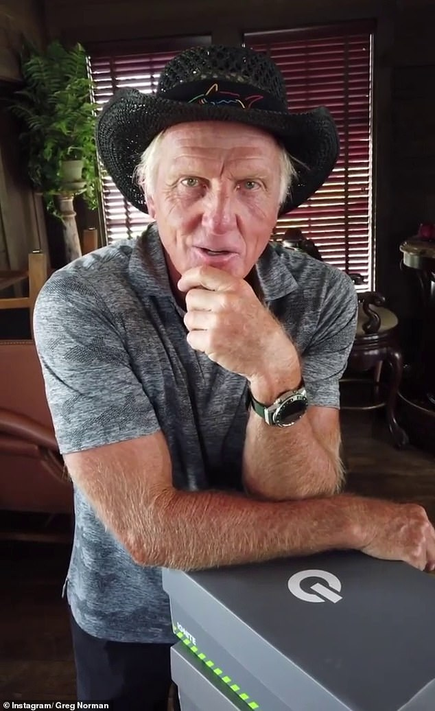 'It was quite a bit of fun': Greg Norman, 65, (pictured) has admitted he found the social media frenzy surrounding his naughty beach photo last November was 'hilarious', telling the Herald Sun 'it was quite a bit of fun'