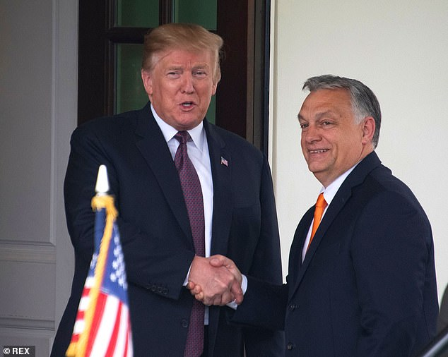 Prime Minister Viktor Orban, (right) who will seek reelection, was a staunch supporter of former US president Donald Trump (left) whose social media accounts were shut after the Capitol invasion in Washington January 6.But Orban now fears he could be banned from social media as well, which could affect his chances in the upcoming elections