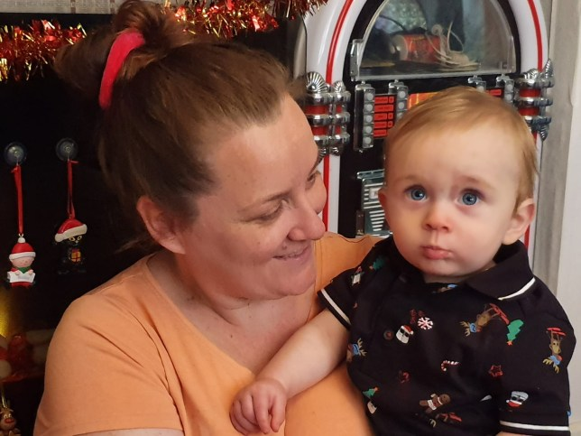 Emma Mansell-Grey and her son