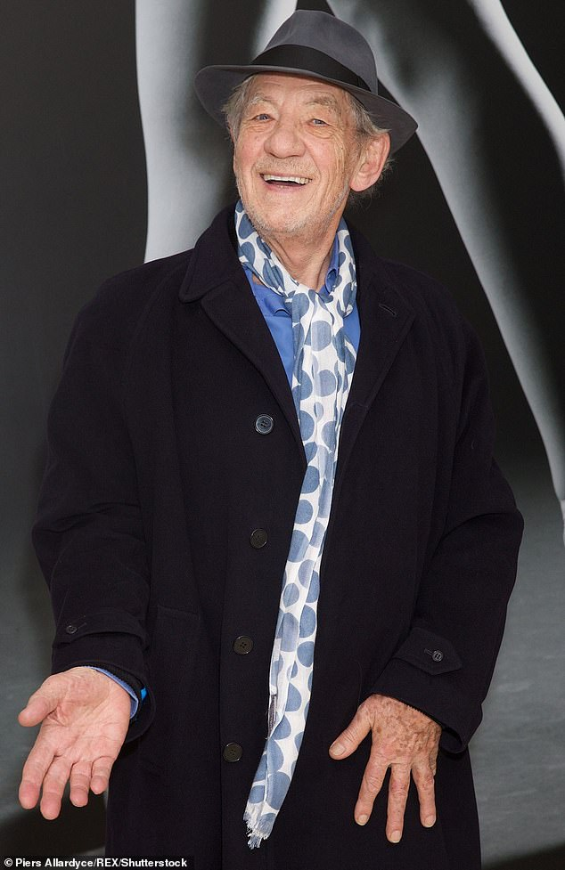 Supportive: Sir Ian McKellen, 81, told Attitude magazine that he is 'so happy' his former X-Men co-star Elliot Page came out as transgender