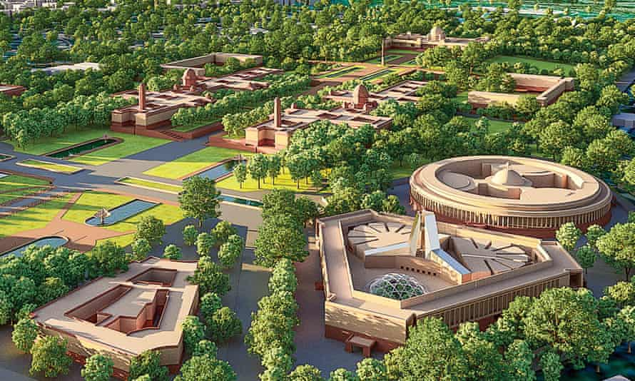 Plans of the new parliament complex.