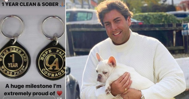 James Argent celebrates one year of sobriety