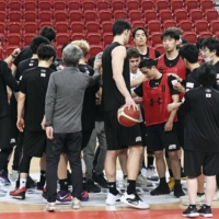 Japan's Akatsuki Five have played just one game in their Asia Cup qualifying group, a 96-57 win over Taiwan last February.   KYODO