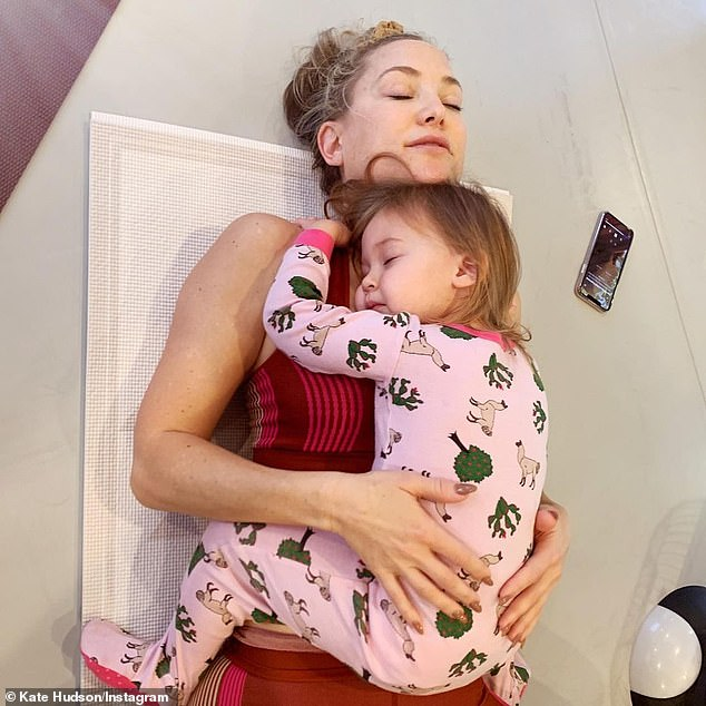 Busy mom: Kate Hudson opened up on Sunday about her experience as a mother, specifically with regard to the fact that her three children each have a different father