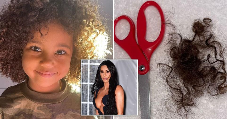 Kim kardashian's son Saint West gives himself a DIY haircut