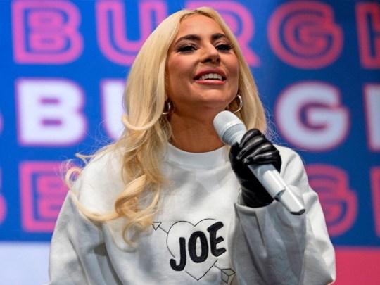 Lady Gaga at Joe Biden election campaign