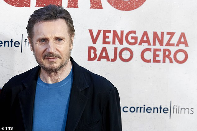 Down Under: Liam Neeson [pictured] has been in Australia filming his new action flick Blacklight in Melbourne's outer suburbs since early November