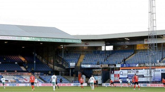 Kenilworth Road was one of the first grounds to welcome back crowds following the Covid pandemic