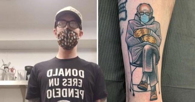 Man gets that Bernie meme tattooed on his leg jimmyhomesick