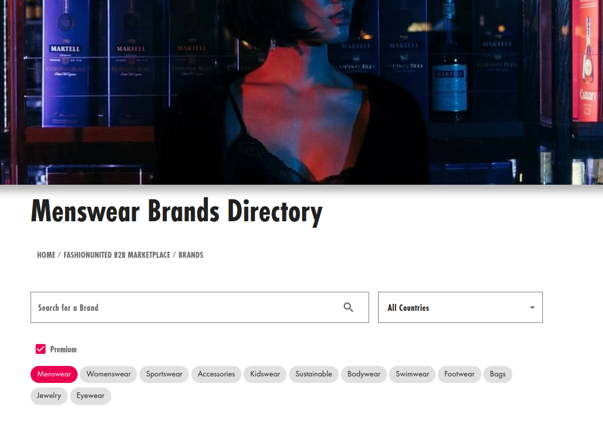 Menswear AW21 fashion brands directory