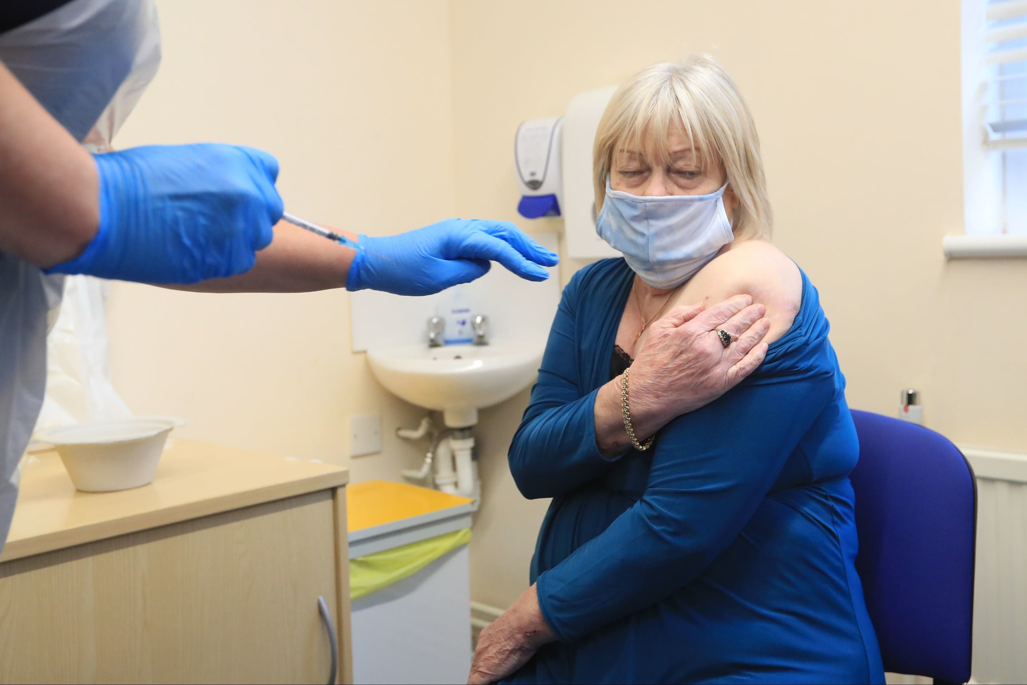 <p>Deputy Chief Medical Officer's Mother Receives Covid-19 Vaccine</p>