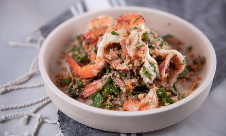 Diana Chan's pomelo salad with prawns.