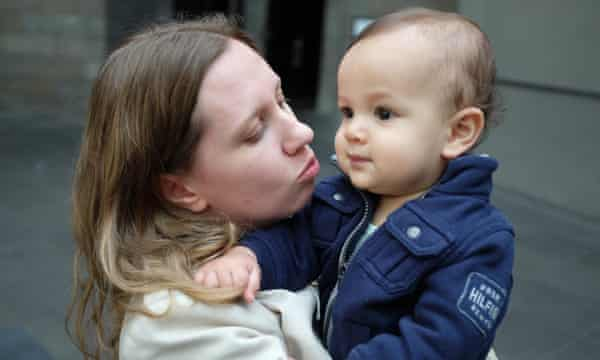 Sarah Copland and her son, Isaac.