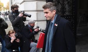 Gavin Williamson departs a cabinet meeting in London, Britain, 10 November 2020.  EPA/NEIL HALL