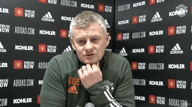 Ole Gunnar Solskjaer explains why he waited so long to make a substitution in Manchester United defeat