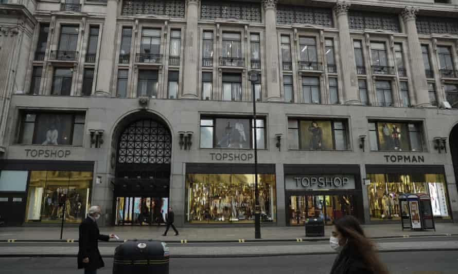 Topshop's landmark store in Oxford Street, London, which went into administration with the rest of Philip Green's Arcadia fashion empire last year.