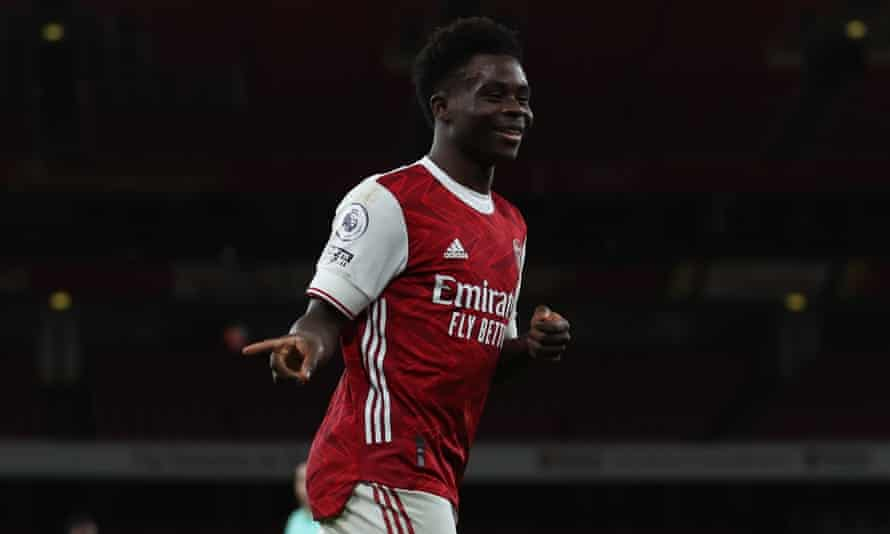 Bukayo Saka continued his impressive form with a goal during Arsenal's comfortable win