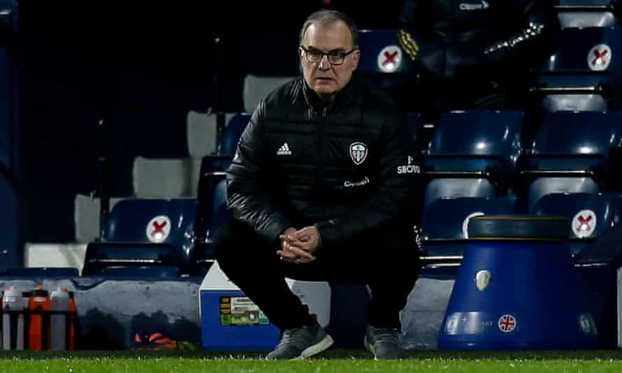 Marcelo Bielsa watches at the Hawthorns as his Leeds side dismantle West Brom 5-0.