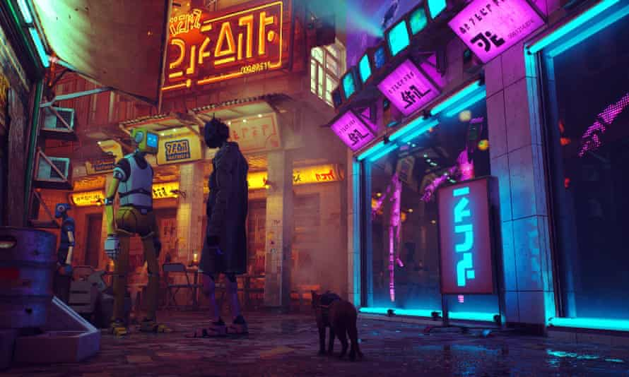 Stray is a third-person cat adventure game.