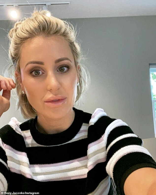 Angry:Roxy Jacenko (pictured) has slammed anti-mask and vaccine protesters who swarmed Sydney's Bondi Junction on Sunday to oppose the city-wide mask mandate
