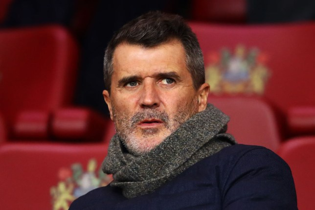 Manchester United legend Roy Keane looks on during Manchester City's Premier League clash with Burnley