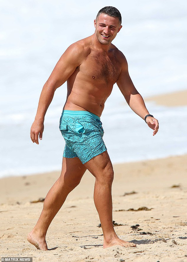 Life's a beach! On Thursday, former NRL star Sam Burgess showed off his buff physique as he enjoyed a swim at Coogee Beach