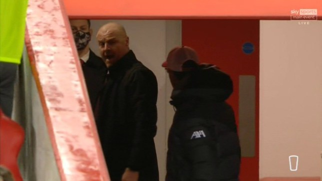 Sean Dyche and Jurgen Klopp were involved in a heated exchange at Anfield