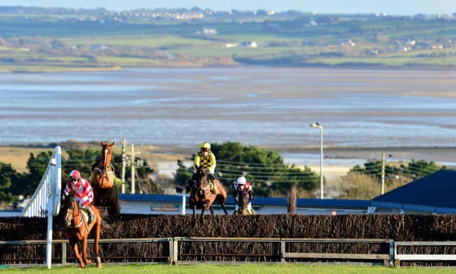 A flying leap by Al Boum Photo at an early stage of his New Year's Day success of Tramore.