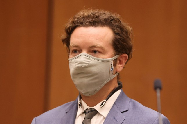 LOS ANGELES, CA - SEPTEMBER 18: Actor Danny Masterson is arraigned on rape charges at Clara Shortridge Foltz Criminal Justice Center on September 18, 2020 in Los Angeles, California. Masterson has been charged with forcibly raping three women on separate occasions between 2001 and 2003. (Photo by Lucy Nicholson - Pool/Getty Images)