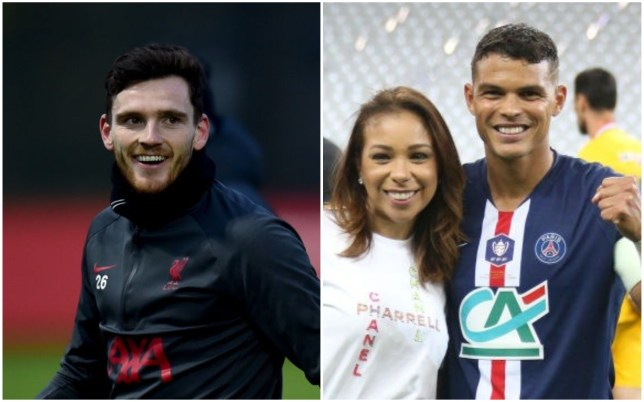 An unlikely feud between Andy Robertson and Thiago Silva's wife has emerged