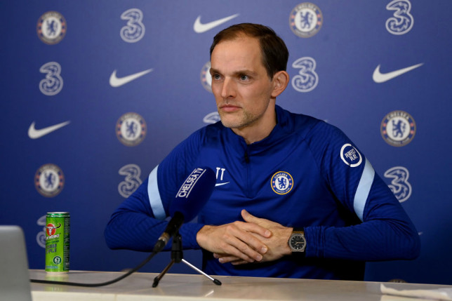 Newly appointed Chelsea manager, Thomas Tuchel, attends a press conference at Chelsea Training Ground on January 28, 2021 in Cobham, England.