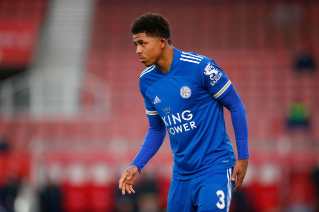 Wesley Fofana looks on during Leicester's FA Cup clash with Stoke City