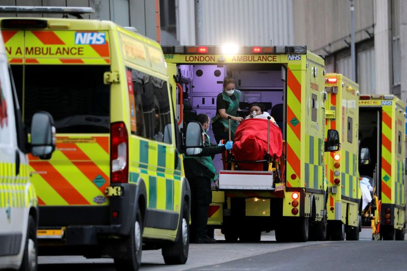 © Reuters. Royal London Hospital amidst the COVID-19 pandemic