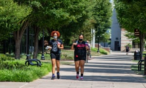 Students walk on the campus of Bloomsburg University in Pennsylvania, in August.