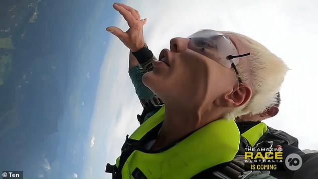 'His face does move!' Viewers reacted to Jack Vidgen's very taut complexion as he jumped 14,000 feet out of a chopper on I'm A Celebrity's premiere episode on Sunday (pictured)