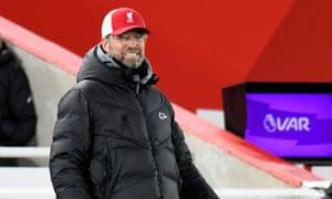 Jürgen Klopp on the touchline