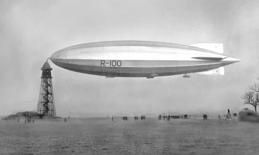 Top speed 70mph... the R100 airship