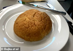 Pictured, one of the bread rolls made with PulseON ingredient made from chickpeas