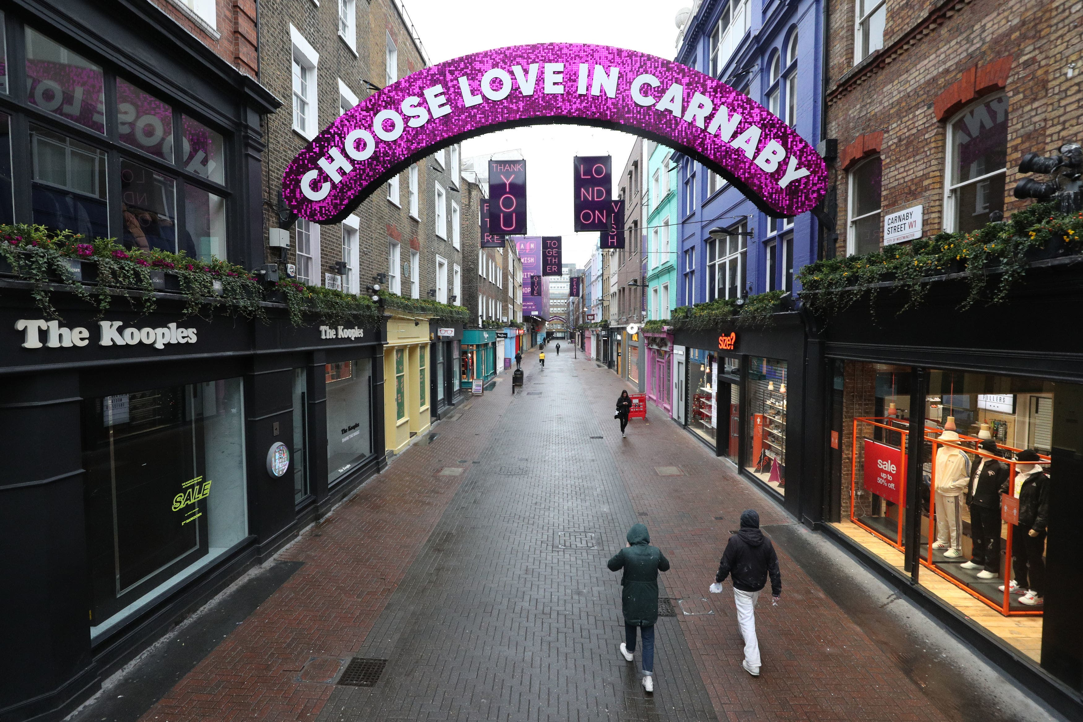 <p>An empty Carnaby Street in London, the day after Prime Minister Boris Johnson set out further measures as part of a lockdown in England in a bid to halt the spread of coronavirus.</p>