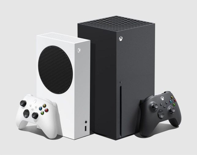 Xbox Series X and Xbox Series S consoles